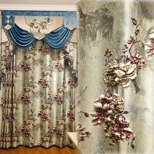 Image 5 - 유럽과 미국의 최고 럭셔리 4d 자카드 빌라 커튼 거실에 대 한 고품질 수 놓은 얇은 명주 그물과 침실에 대 한