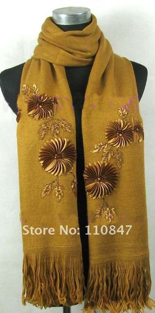 Free shipping! Lot 20 Sun flower Pashmina Scarves Shawl Wrap Stole SA08