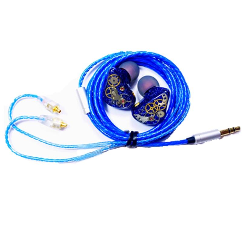 Fever Handmade HIFI In Earphone Compound Dynamic Drive Units Headphone Noise Cancelling HIFI Monitor Super Bass For Fiio Mp3