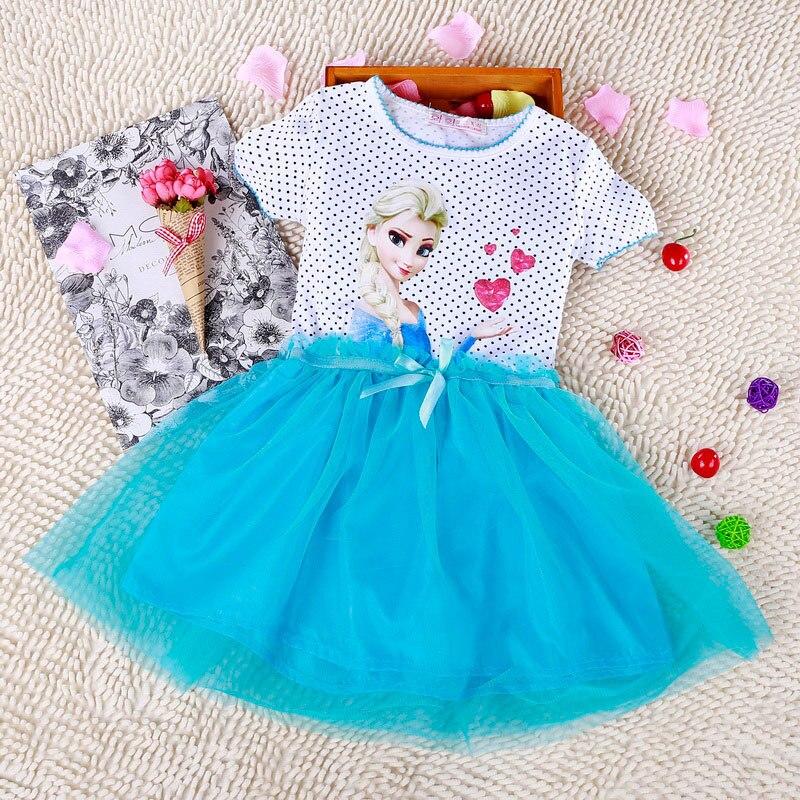 Kids 2-7år New Girls Dresses Vestidos Elsa Klänning Barn Snow Queen - Barnkläder - Foto 3