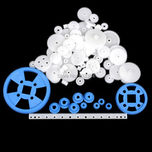 Specia offer 69 kinds of gear one set 69pcs gear bag plastic gear toys gear for model robot Car DIY accessories free shipping