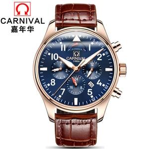 Image 2 - Carnival Brand Luxury Men Watches Japan MIYOTA Automatic Mechanical Man Watch He Gas 150M Waterproof Multifunction Clock C8675 7