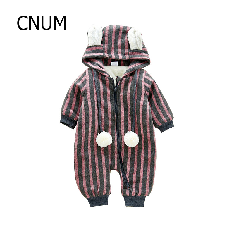 CNUM Baby Rompers Newborn Long Cotton Printed Autumn Boy Christmas 2017 Infant Triangle Climb Baby Girls Clothing One-pieces warm thicken baby rompers long sleeve organic cotton autumn
