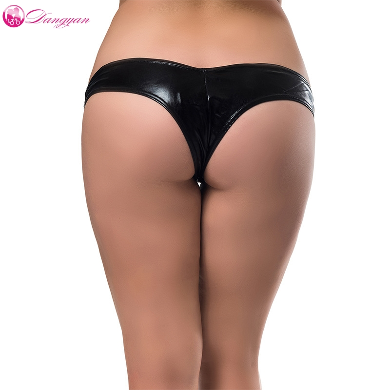 DangYan plus size <font><b>sexy</b></font> latex briefs <font><b>erotic</b></font> <font><b>underwear</b></font> 5 colors <font><b>crotchless</b></font> leather briefs <font><b>women</b></font> porn <font><b>panties</b></font> <font><b>sexy</b></font> lingerie image