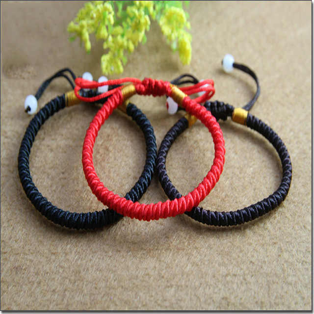 Buddhist Love Lucky Charm Tibetan Bracelets & Bangles for Women Men Handmade Knots Rope Budda Bracelet Adjustable 3 Colors