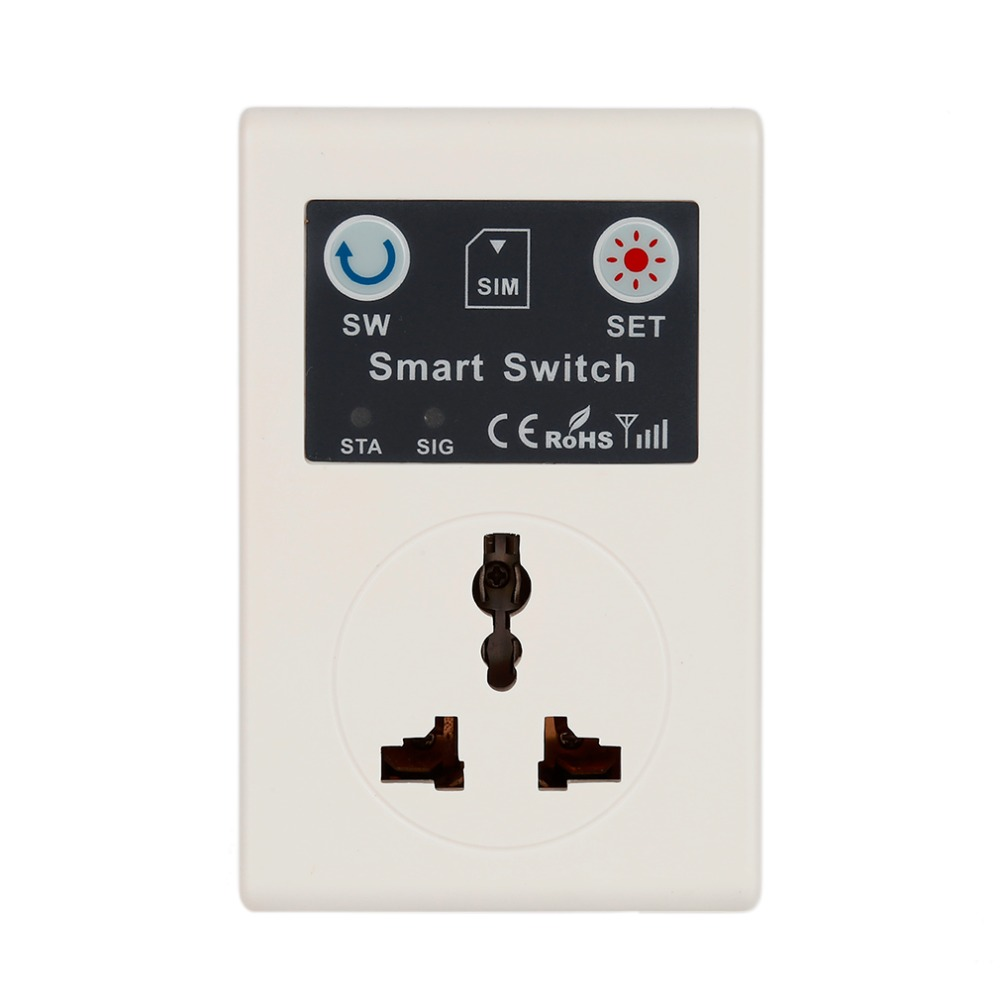 Professional 220V Phone RC Remote Wireless Control Smart Switch GSM Socket Power Plug for Home Household Appliance Dropshipping
