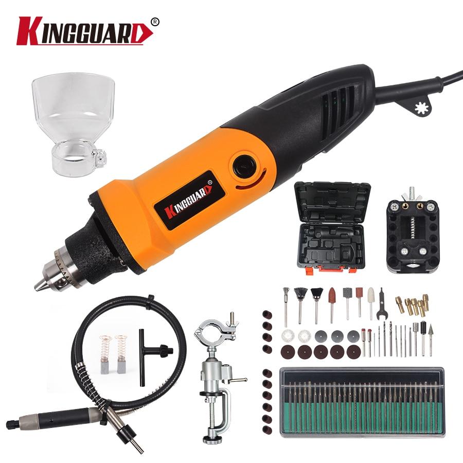 KINGGUARD 84pcs 400W dremel style Electric Variable Speed for Dremel Rotary Tool Mini Drill dremel style tools grinding machine