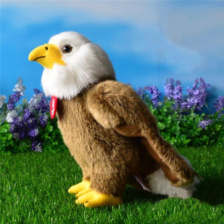 Free Shipping High Quality 25cm Simulation Bald Eagle Plush Toys Stuffed Animal Toy Soft Eagle Dolls For Kids