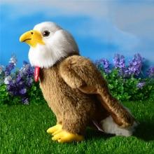Free Shipping High Quality 25cm Simulation Bald Eagle Plush Toys Stuffed Animal Toy Soft Eagle Dolls