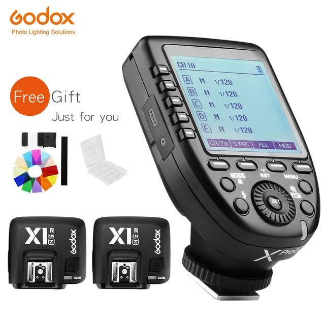 Godox Xpro N Zender Met 2Pcs X1R N Ontvanger Ttl 1/8000S Hss High Speed Sync 2.4G Wireless Flash Trigger Voor Nikon Camera S