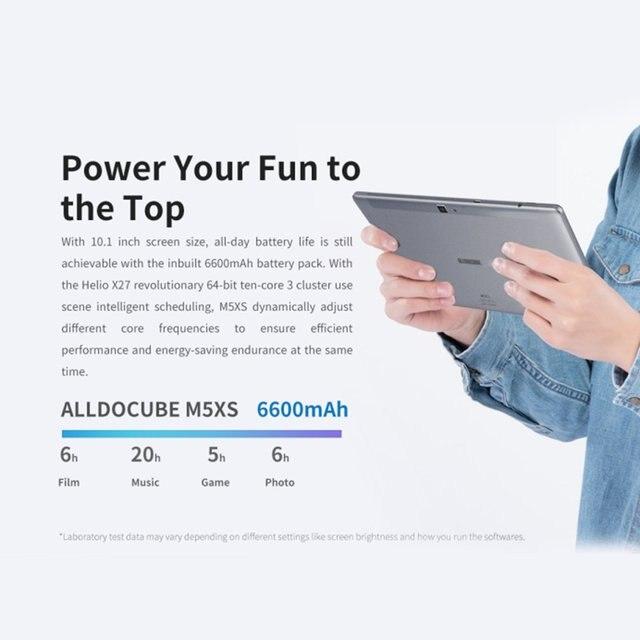 ALLDOCUBE ( M5XS ) T1006XS 4G Phablet 10.1 inch Android 8.0 MTK X27Deca Core 2.6GHz 3GB 32GB 5.0MP Rear Camera 6600mAh