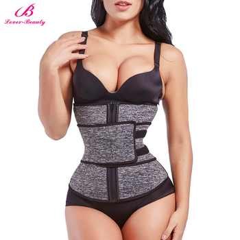 Lover Beauty Women Waist Trainer Plus Size High Compression Zipper Fajas Slimming Tummy Belt Corset Neoprene Fitness Sweat Belt - DISCOUNT ITEM  50% OFF All Category