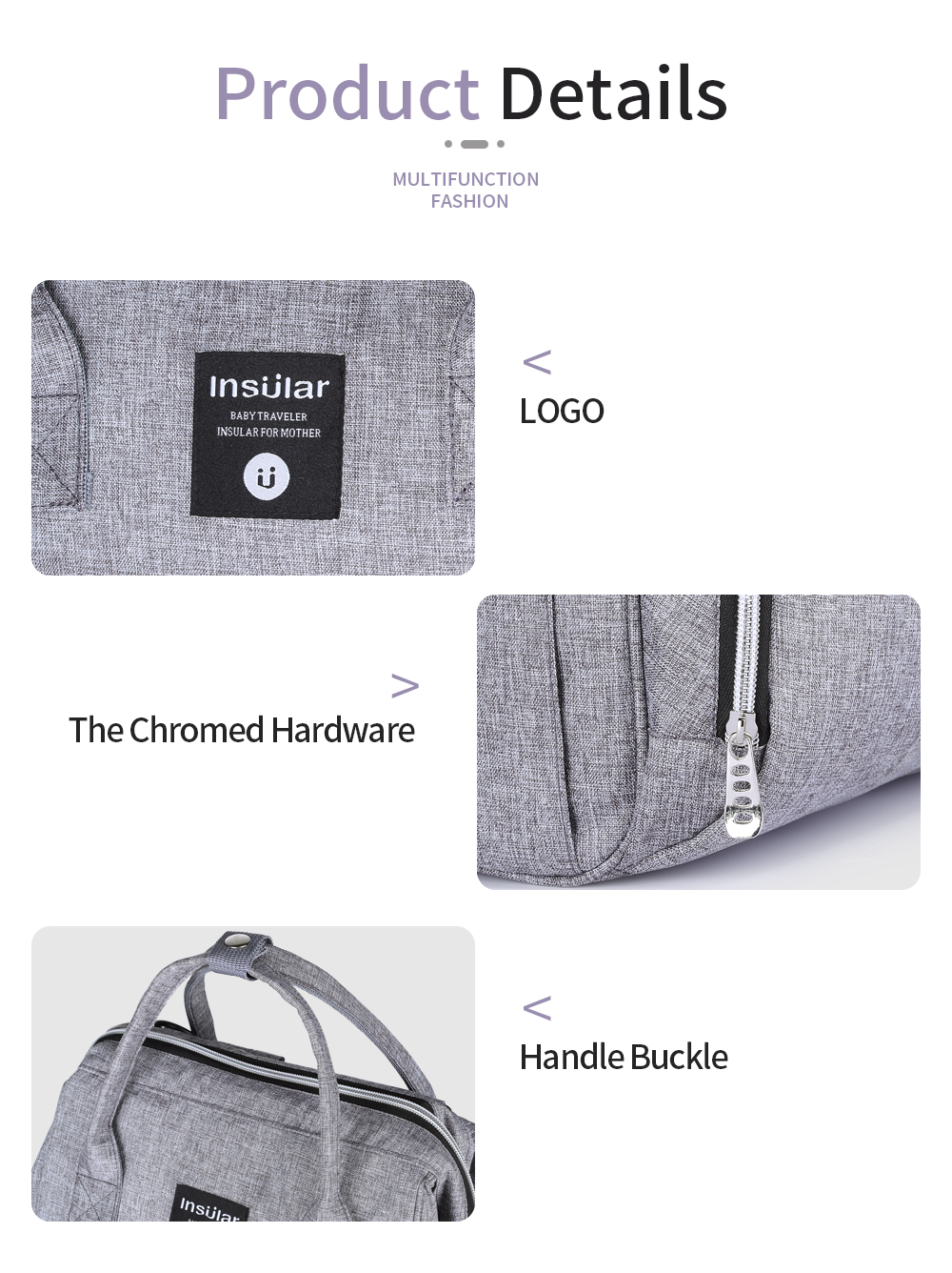 HTB1j.E0cMmH3KVjSZKzq6z2OXXao Insular Brand Nappy Backpack Bag Mummy Large Capacity Stroller Bag Mom Baby Multi-function Waterproof Outdoor Travel Diaper Bags