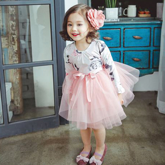 Fashion Baby Dress Long Sleeve Princess Girls Clothes Spring Autumn Winter  Children Dresses For Girl Floral Clothing Vestidos a385d3dcd72c