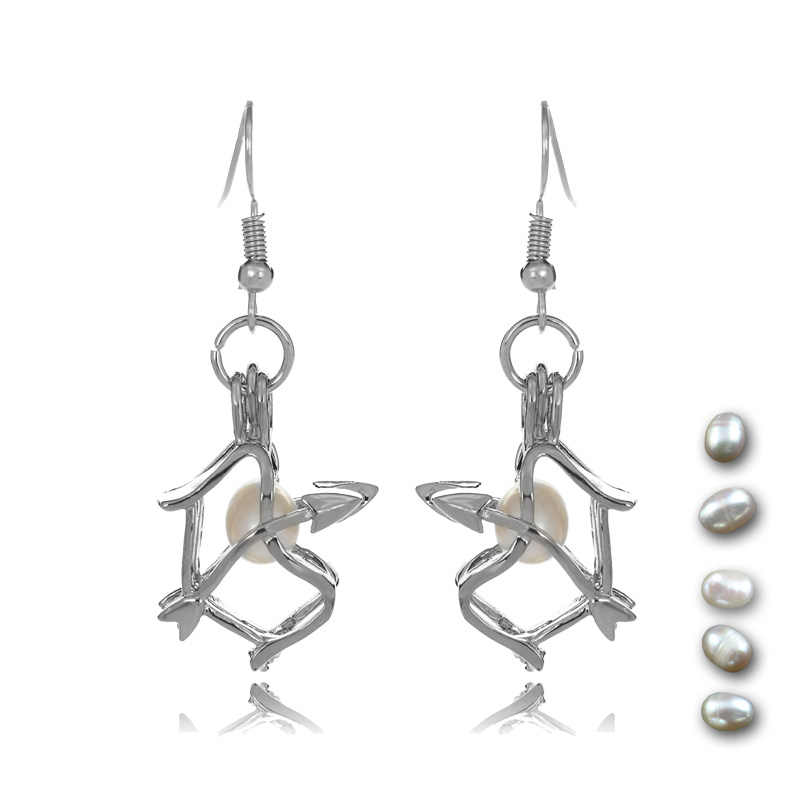 Summer New Arrival Cupid's Bow Cage Women Drop Earrings, Unique Dangle Earrings For Women and Girls Love Wish Gifts