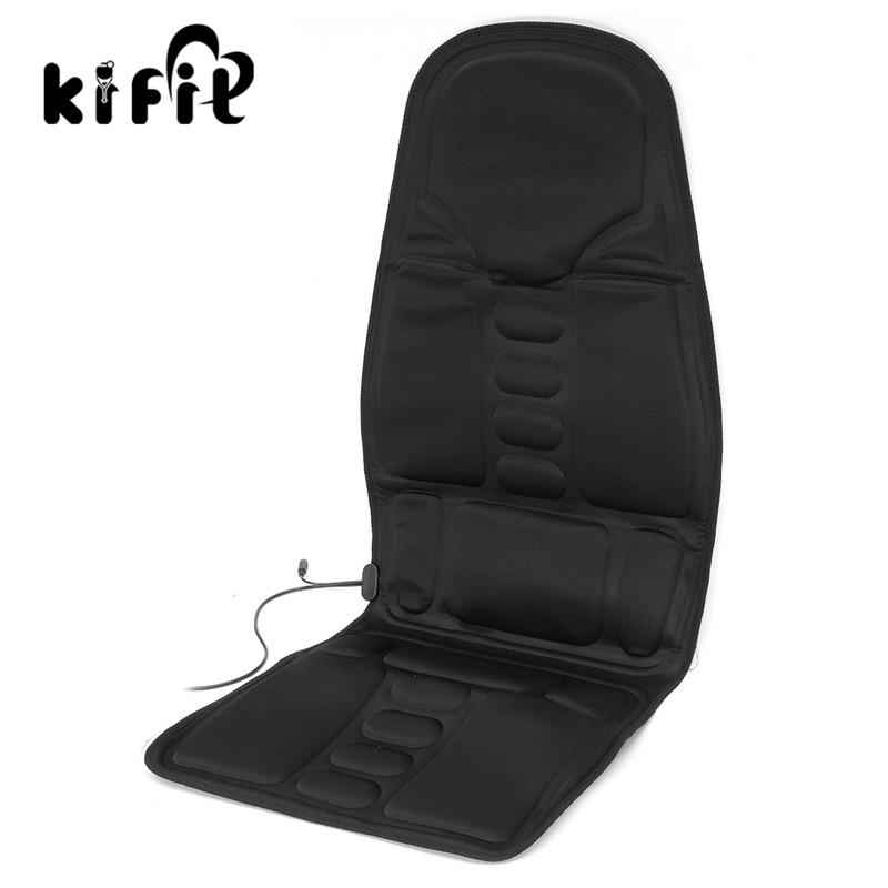 KIFIT Multifunctional Car Chair Body Massage Heat Mat Seat Cover Cushion Neck Pain Lumbar Support Pad Back Massager