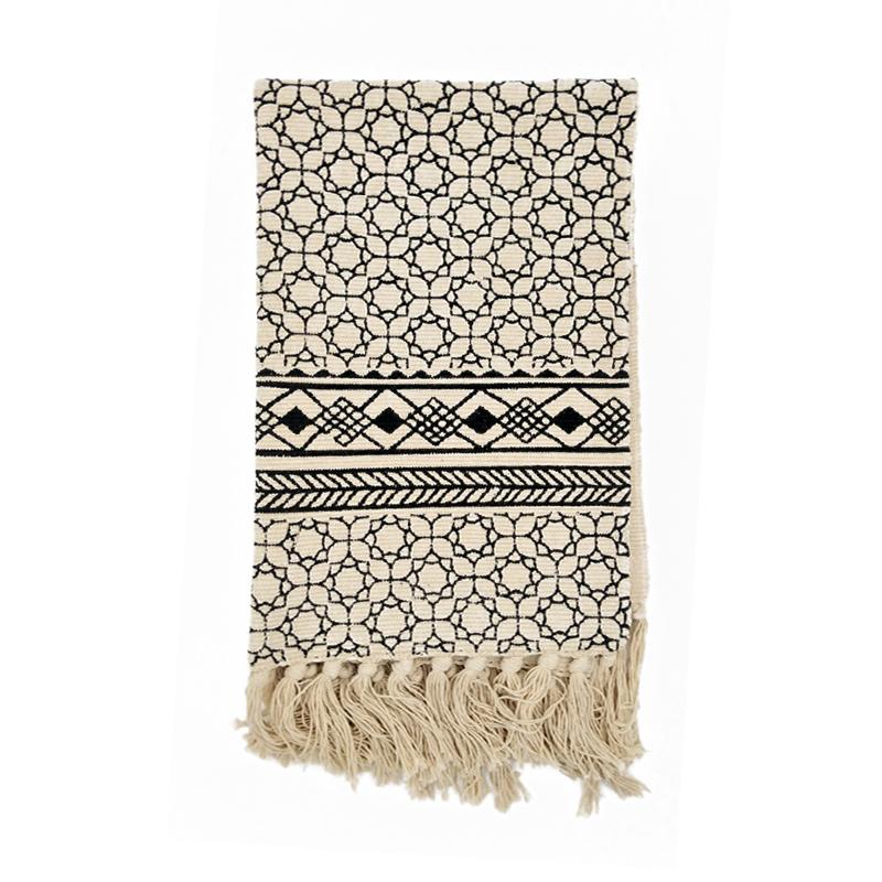 € 36.68  Kilim noir blanc 100% coton salon tapis géométrique indien tapis  rayé moderne tapis design contemporain style nordique-in Tapis from Maison  & ...