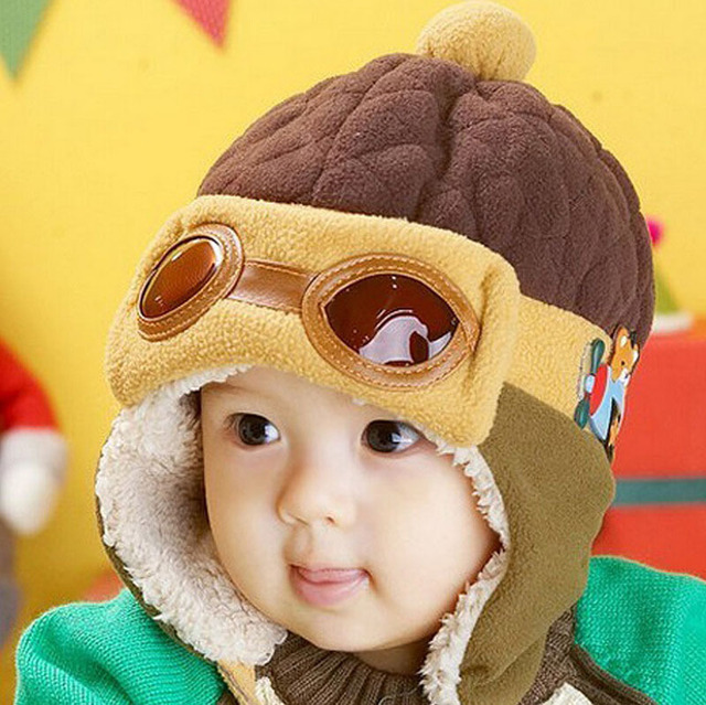 c048d4d8ad8a Hot Sale Toddlers Warm Cap Hat Beanie Cool Baby Boy Girl Hat Kids Infant Winter  Pilot