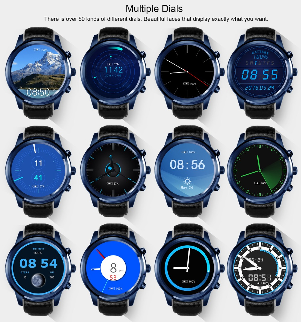 LEMFO LEM5 Pro Android Smart Watch For Men And Women 2GB + 16GB With GPS WiFi And Bluetooth 14