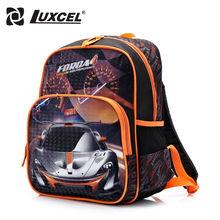Luxcel waterproof Boy School Backpack Racing Car cartoon children schoolbag kids baby bags escolar mochila