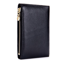 Porte Feuille Femme Passport Cover Package Ticket Holder ID Card Holders Credit Flight Clamp Plane Ticket Thin Cow Real Leather
