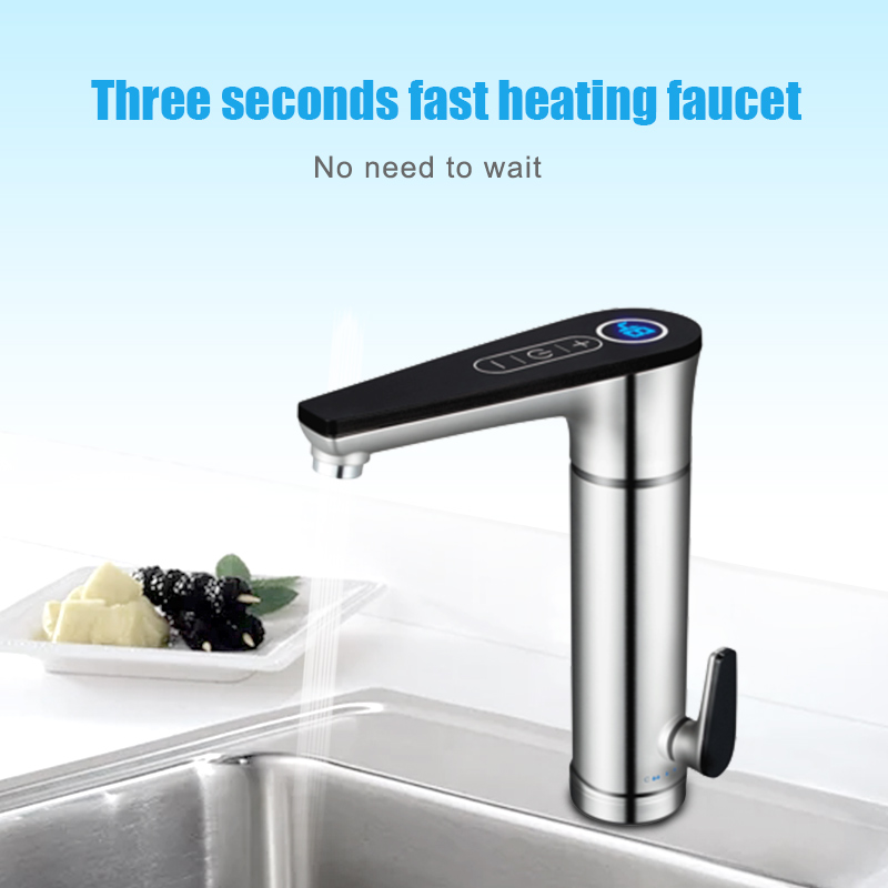 3000W Electric Water Heater Tankless Water Faucet Hot Boiler Water Electric Heating Tap Element With Adjustable Temperature