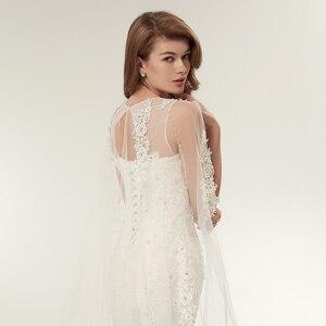 Image 5 - Fansmile Vestido דה Noiva מותאם אישית בתוספת גודל תחרת בת ים שמלות כלה 2020 תמונה אמיתית בציר כלה חתונה שמלות FSM 112M