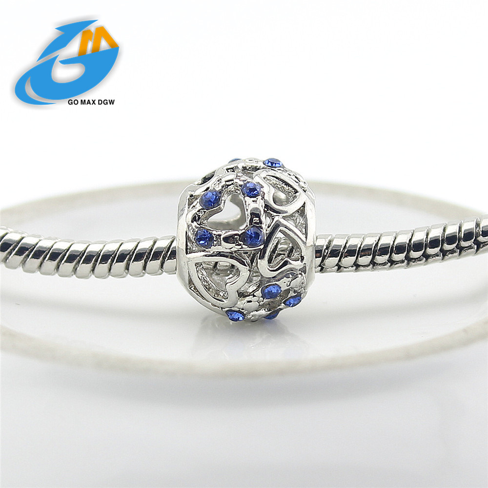 Pandora Jewelry Free Shipping: Fits Pandora Charm Bracelet DIY Silver Plating Hollow Out