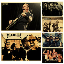 Rock music band metallica poster Kraft paper print art poster heavy metal rock music poster bar student hostel retro poster(China)