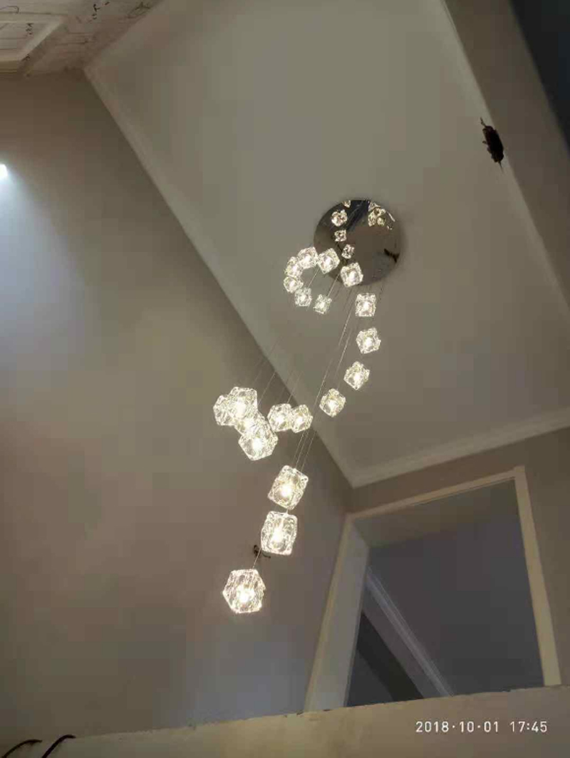 Us 9 99 aliexpress com buy long led cone pendant lights double stair pendant lamp stairwell pendant light fixture stairway pendant light duplex