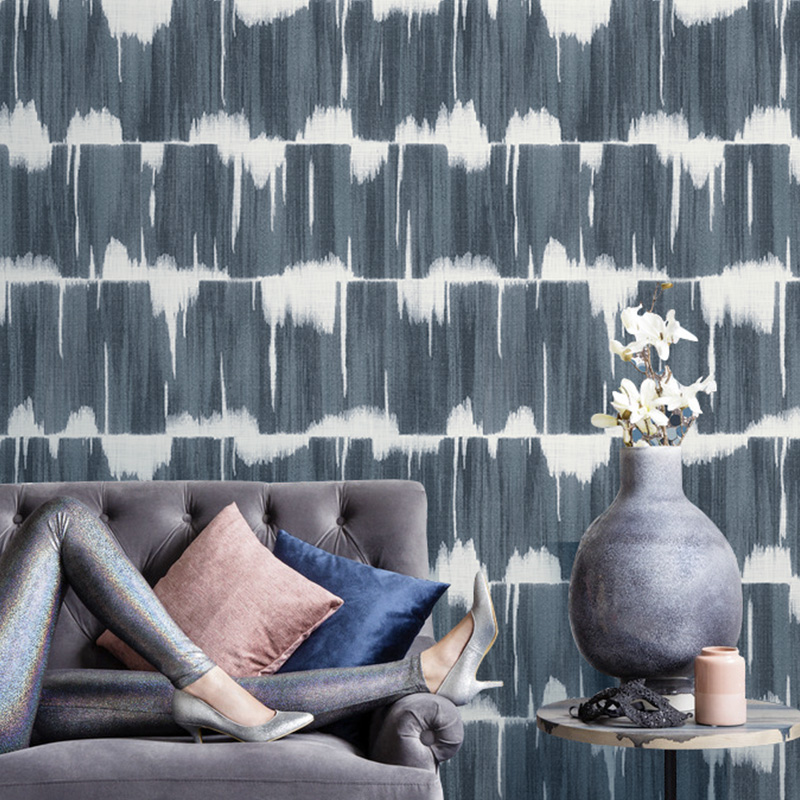 Geometric Wall Papers Home Decor for Living Room Walls Mural Blue Grey Wallpaper Roll for Bedroom Decoration papier peint in Wallpapers from Home Improvement