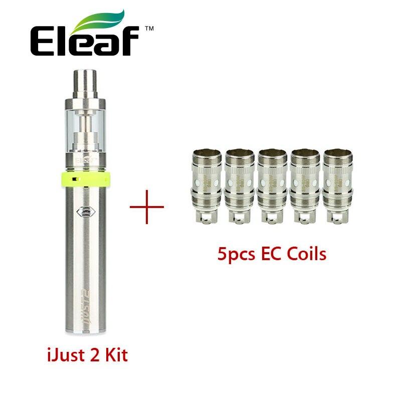 Originale Eleaf ijust 2 Vaping Kit 5.5 ml 2600 mAh Batteria ijust 2 e sigaretta elettronica kit w/5 pz Eleaf EC Atomizzatore Coil Testa