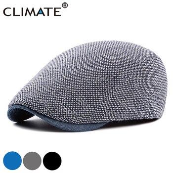 CLIMATE Men Berets Beret Hat Men Warm Hats Flat Cap Vintage Blank Beret for Men Casual Thick Retro Mature Men Flat Caps Beret
