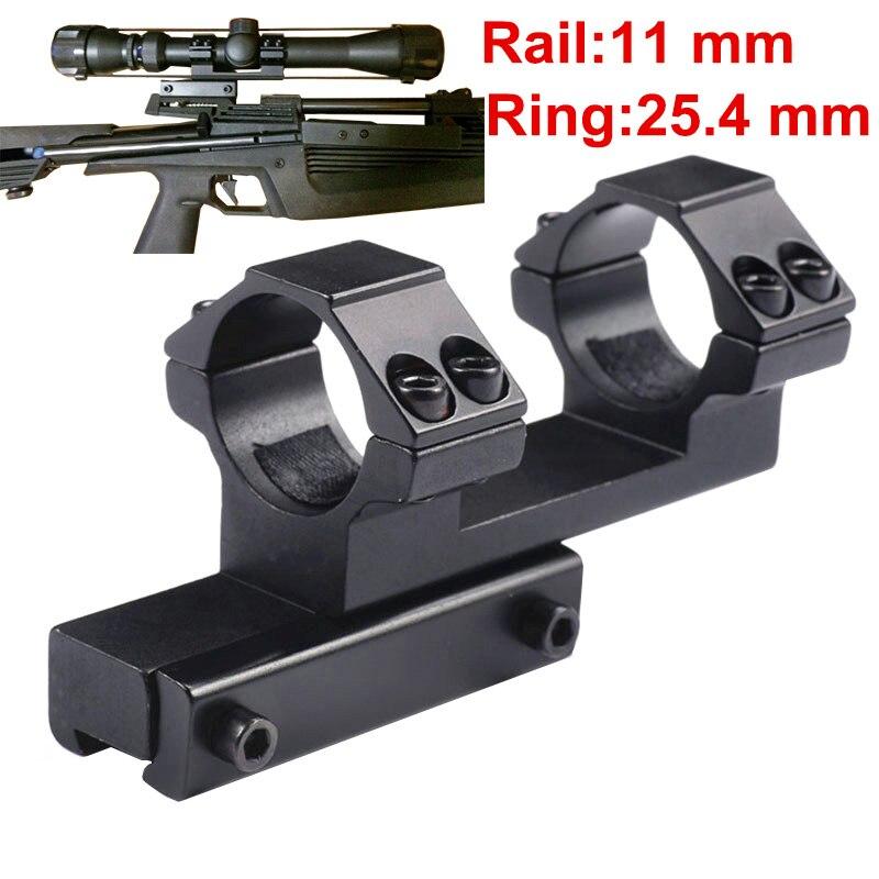 """Anneau intégral de chasse 25.4mm 1 """"Rail en queue d'aronde monobloc de Style étendu 11mm"""