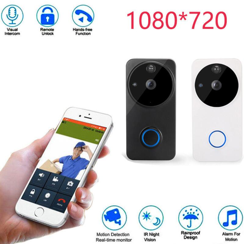 WF04 720P Smart Video Doorbell Wi-Fi Infrared Night Vision Wireless Voice Connection Doorbell Home Electronic Cat EyeWF04 720P Smart Video Doorbell Wi-Fi Infrared Night Vision Wireless Voice Connection Doorbell Home Electronic Cat Eye