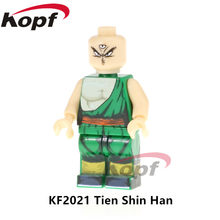Single Sale Super Heroes Dragon Ball Z Figures Tien Shin Han Majin Buu Vegeta Jiren Building Blocks Children Gift Toys KF2021(China)