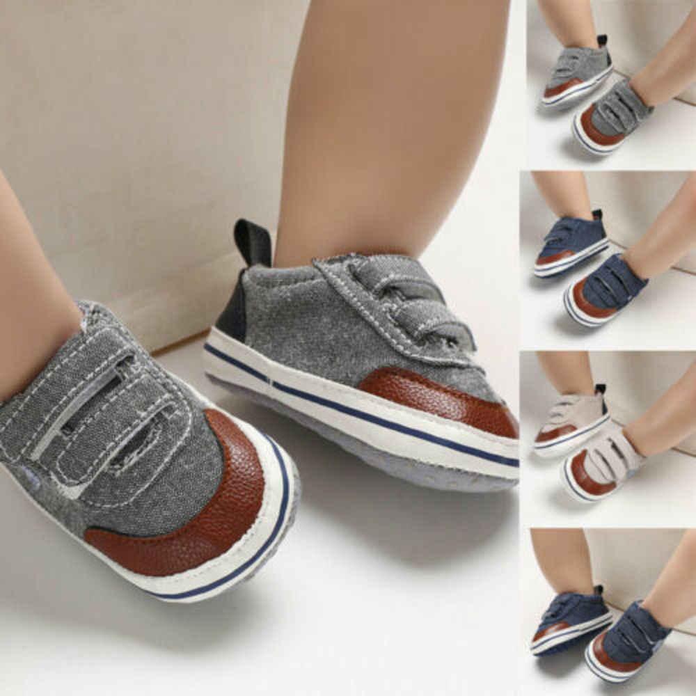 Zapatos de cuna de suela blanda para bebé niño niña zapatilla para niños antideslizante 0-18 meses