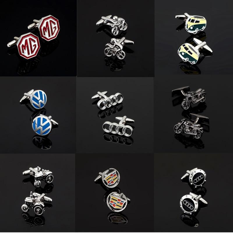 High quality men s business Cufflinks 18 car logo Cadillac Cufflinks Audi Martha Lahti Volvo VW