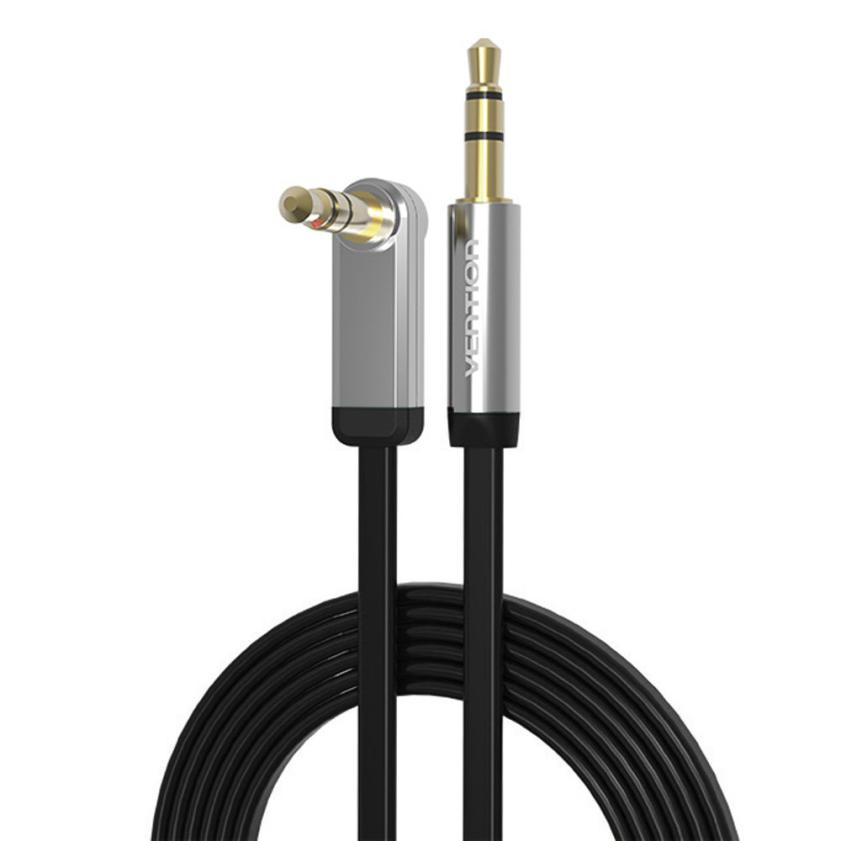 VENTION 3.5mm Jack Audio Cable Male To Male 90 Degree Right Angle Flat Aux Cable May 26