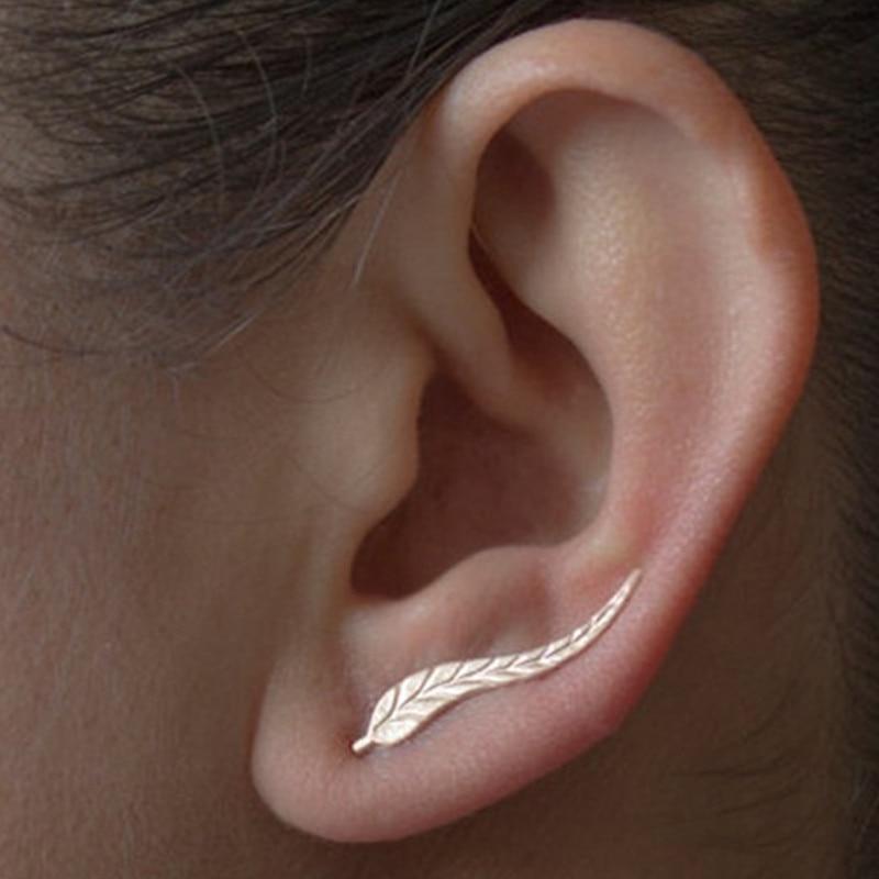 1 Paire Femme vingate spirale feuilles Dangle Boucles d/'oreilles pendantes Cadeau Bijoux