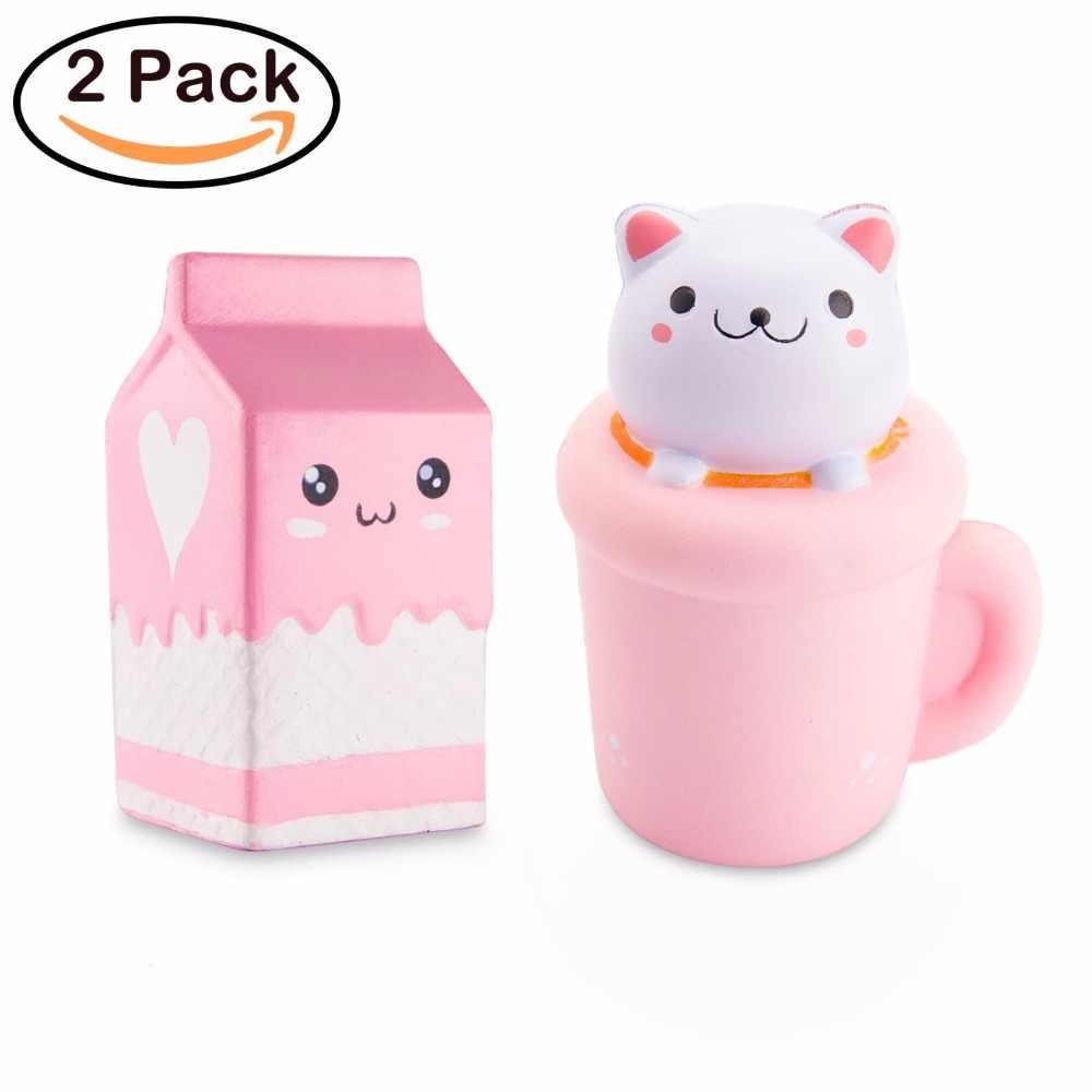 WATINC Jumbo кота чашки и молоко мягкими замедлить рост душистый Vent Подвески Kawaii малыш