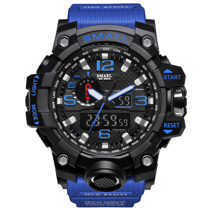 c34be787e2e24b Sport Watch Wristwatch Relogio Masculino Dual Display Men Watch Mens  Military Quartz