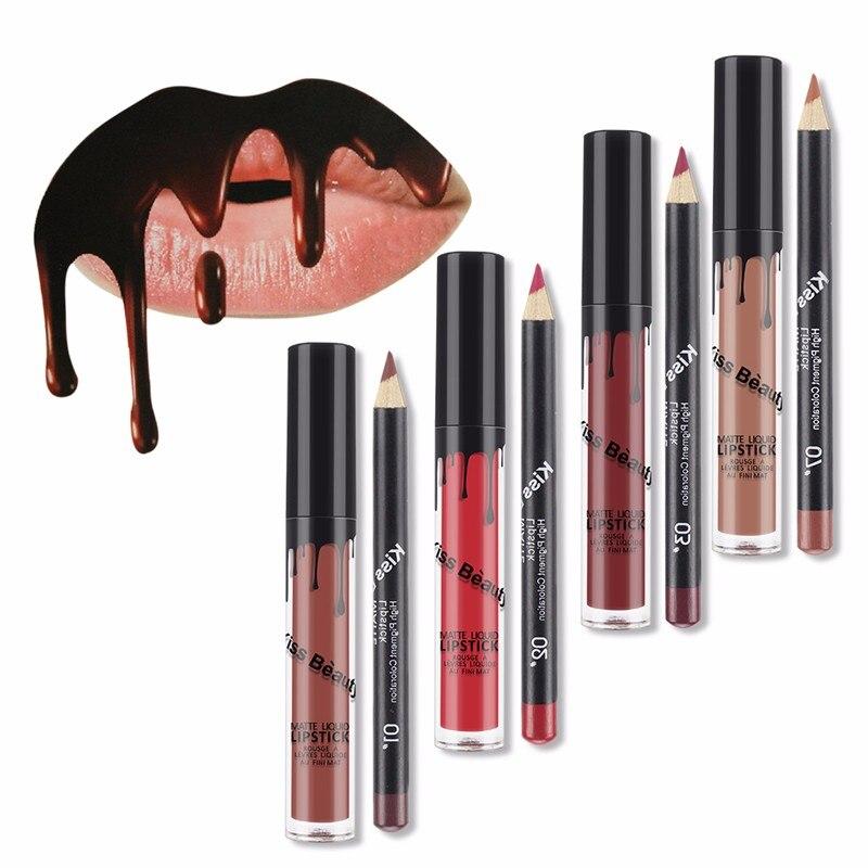 Aliexpress.com : Buy Kiss Beauty Matte lipsticklip gloss ...