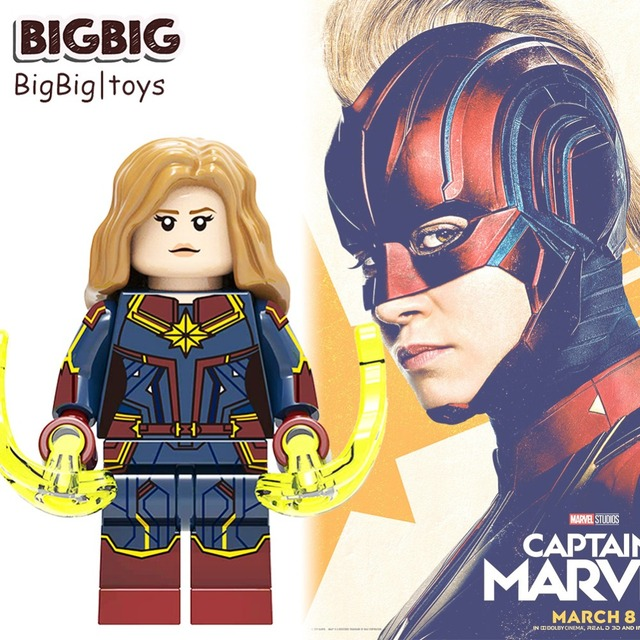 Legoes Vingadores Capitão Marvel Skrull Spiderman Ironman Figuras Blocos de construção Compatível com Legoes 25 miúdo brinquedos de presente de aniversário