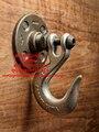 Pesado Tubo de Loft Industrial do vintage Gancho de Parede Decoração de Interiores Decoração Do Banheiro Steampunk Chapéu Gancho Decoração Da Parede Titular Rack de Cabide