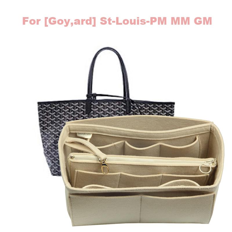For [Goy, Ard] St-Louis-PM MM GM Customized 3MM Felt Handbag Organizer Bag In Bag Wool Wallet Insert Tote Organizer Insert Diape