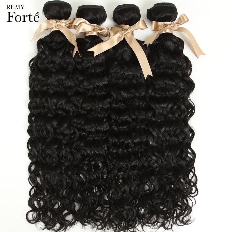 Remy Forte 30 Inch Water Wave Brazilian Hair Weave Bundles Deal Human Hair Extension Vendors Wavy Bundles Human Hair For Women