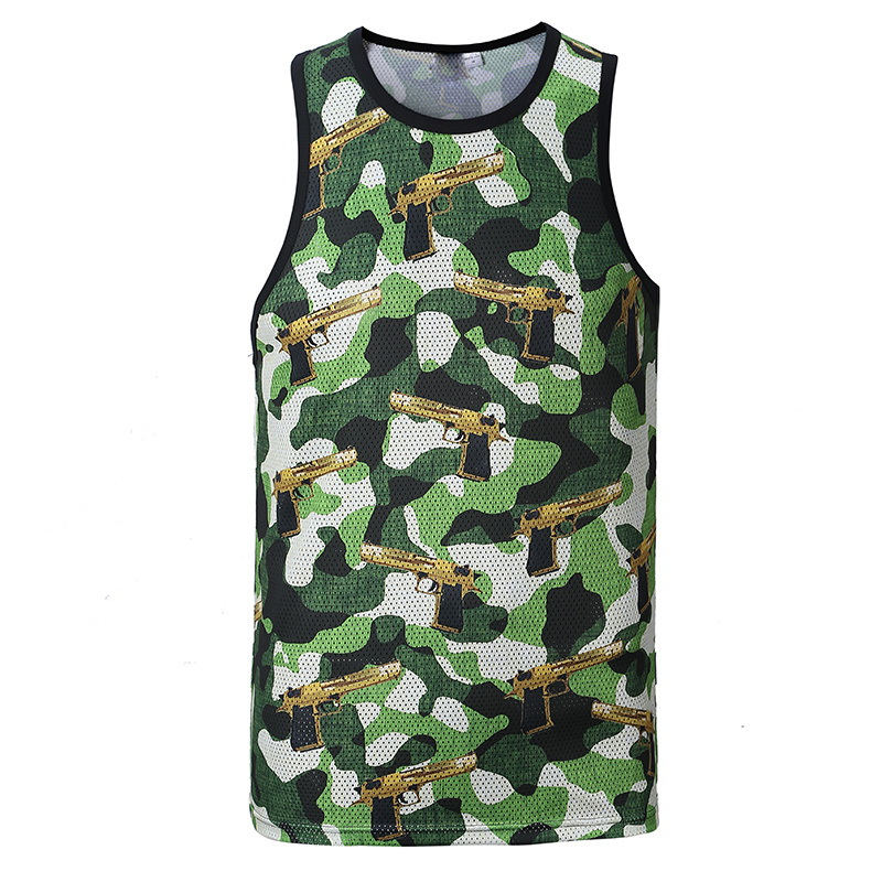 Camouflage   Tank     Top   Men 2017 3D Summer Fashion Vest