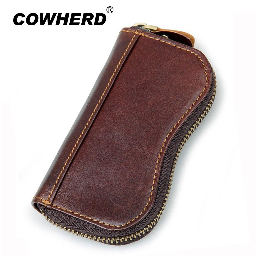 Top Layer Genuine Cow Leather Purse Door Key Wallets Best Selling Men Purse Car Key Fashion Housekeeper Holders Wholesale