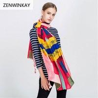 Scarf Women Fashion Luxury Brand Spring Summer Sunblock Thin Cotton Linen Tippet Scarves Female Bandana Shawls